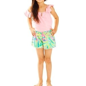 Lilly Pulitzer Arnita Short Tiki Pink Royal Lime